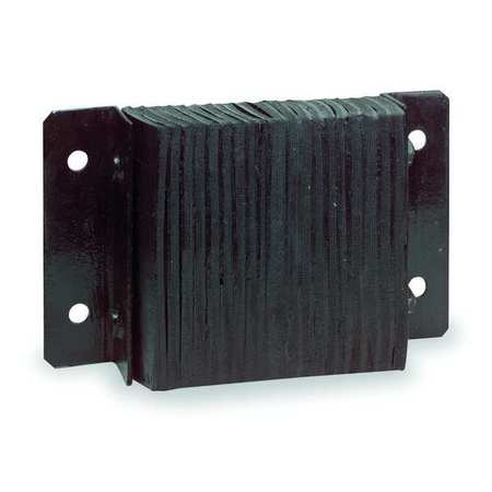 Dock Bumper, 6x4-1/2x32-3/4 In., Rubber