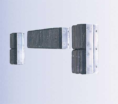 Dock Bumper, 10x4-1/2x14-3/4 In., Rubber
