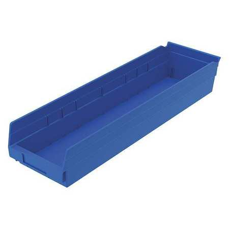 Shelf Bin,  23-5/8 In. L, 6-5/8 In. W, 4 In H