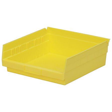 Shelf Bin, 11-5/8 In. L, 4 In. H, Yellow
