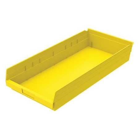 Shelf Bin, 23-5/8 In. L, 4 In. H, Yellow
