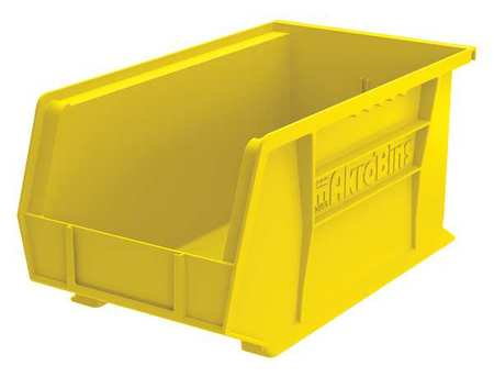 Hang/Stack Bin, 7 x8 1/4 x14 3/4, Yellow