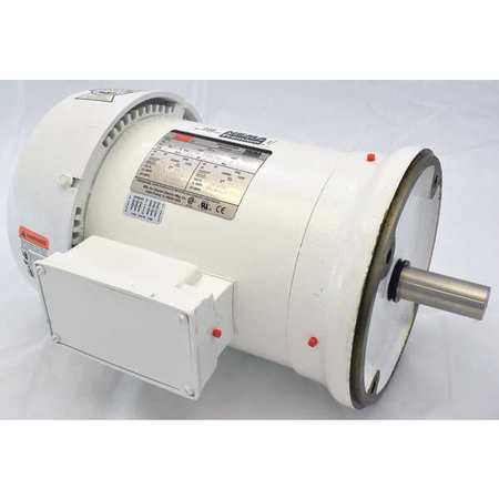 Washdown Motor, 3 Ph, TEFC, 5 HP, 1750 rpm