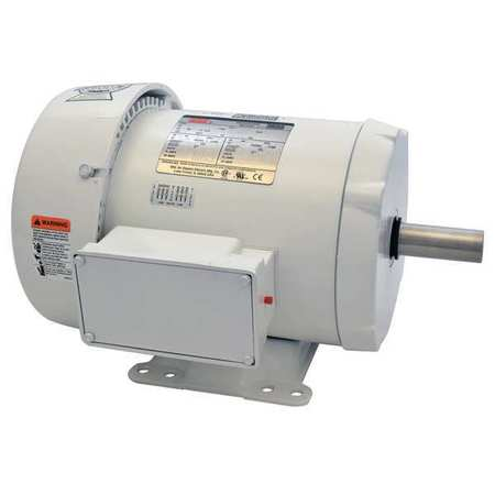 Washdown Motor, 3 Ph, TEFC, 5 HP, 3515 rpm