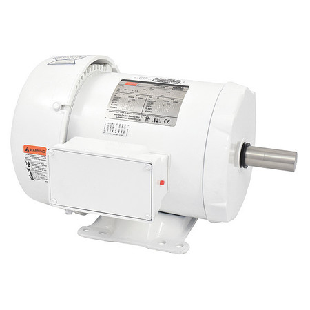 Washdown Motor, 3 Ph, TEFC, 5 HP, 1760 rpm
