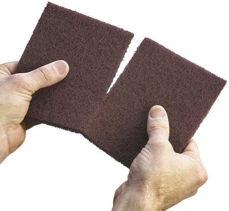 Sanding Hand Pad,  Alum. Oxide, Maroon, VF