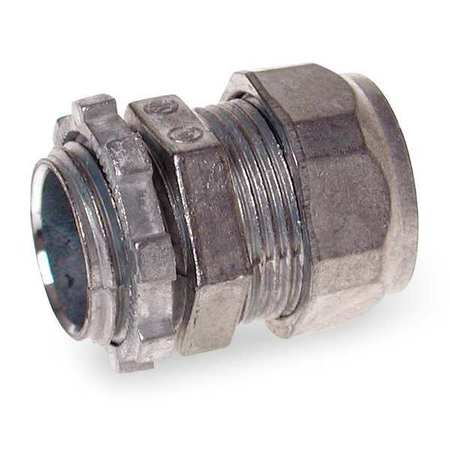 Compression Connector, 2 In, Zinc