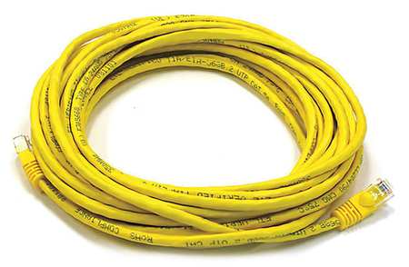 Ethernet Cable, Cat 6, Yellow, 25 ft.