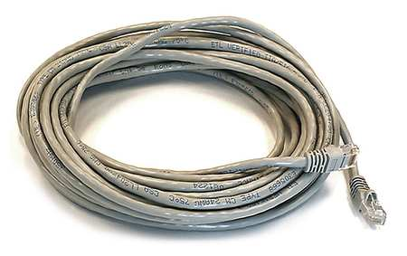 Ethernet Cable, Cat 6, Gray, 30 ft.