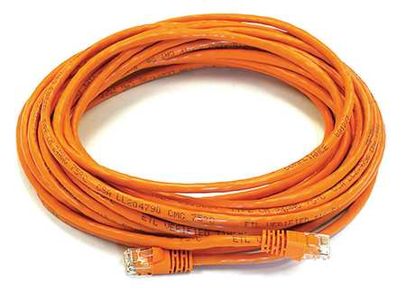 Ethernet Cable, Cat 6, Orange, 30 ft.