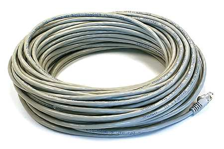 Ethernet Cable, Cat 6, Gray, 75 ft.