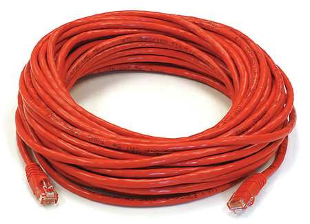 Ethernet Cable, Cat 6, Red, 50 ft.