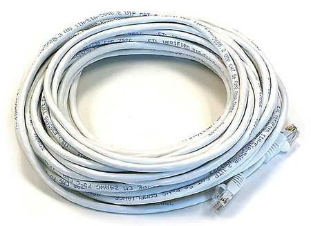Ethernet Cable, Cat 6, White, 50 ft.