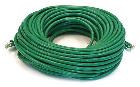 Ethernet Cable, Cat 6, Green, 75 ft.