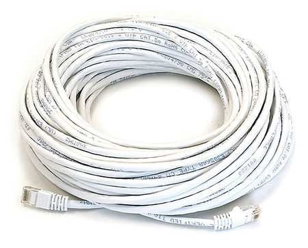 Ethernet Cable, Cat 6, White, 75 ft.