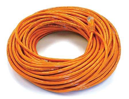 Ethernet Cable, Cat 6, Orange, 100 ft.