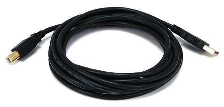 USB 2.0 Cable, 10 ft.L, Black