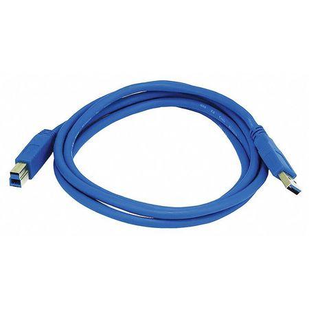 USB 3.0 Cable, 6 ft.L, Blue