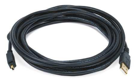 USB 2.0 Cable, 15 ft.L, Black