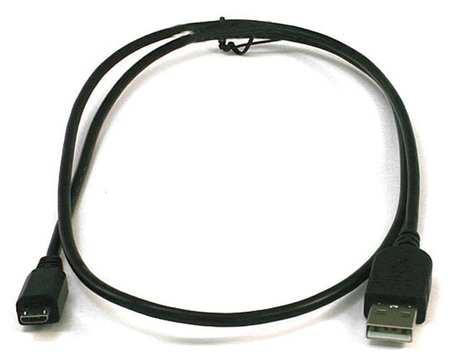 USB 2.0 Cable, 3 ft.L, Black