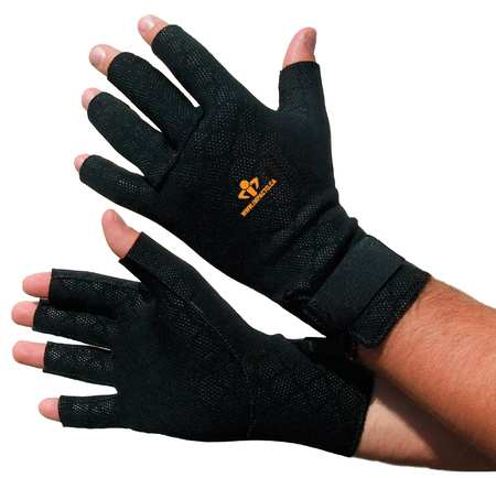 Anti-Vibration Gloves, S, Black, PR