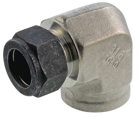 "1/4"" x 3/8"" CPI x FNPT SS Female 90 Degree Elbow"