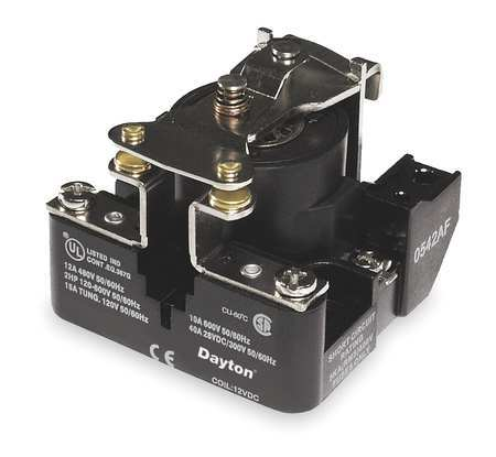 Open Power Relay, 4 Pin, 12VAC, SPST-NO