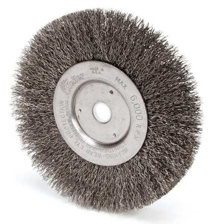 Crimped Wire Wheel Wire Brush,   Arbor