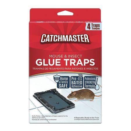 Glue Trap, 5-1/4 In. L, 3-1/2 In. W, PK4