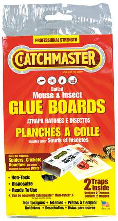 Glue Trap, 8-1/2 In. L, 5-1/4 In. W, PK2
