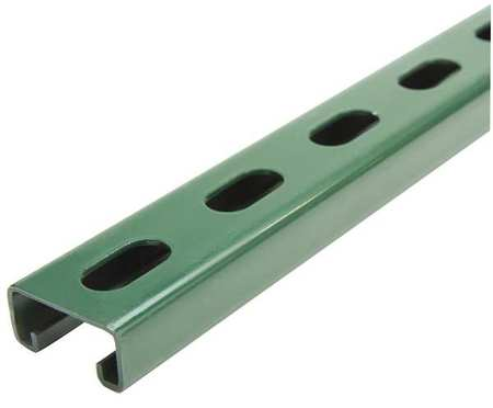"""Strut Channel, 1-5/8"""" W, 5 ft. L, Green"""