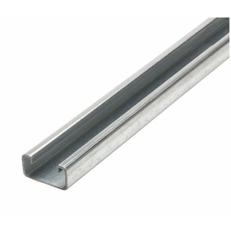 "Strut Channel, 1-5/8"" W, 10 ft. L, Silver"