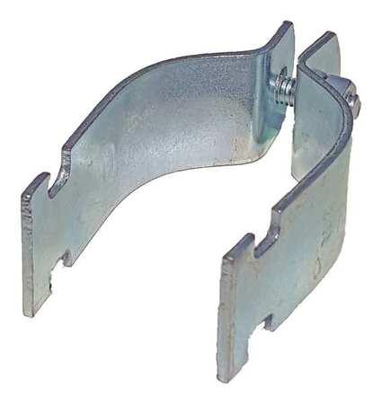 Channel Rigid Pipe Strap, 2-1/2 In, PK10