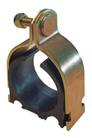 Channel Cushioned Clamp, 2-1/8 In, Gold