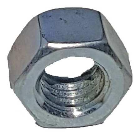 Channel Hex Nut, 3/8 In, Silver, PK25
