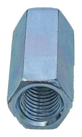 Thread Rod Coupling, 1/4 In, Silver, PK25