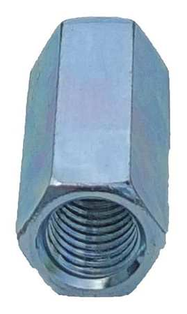 Thread Rod Coupling, 3/8 In, Silver, PK25