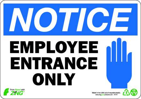 Employee Entrance Notices & Signs
