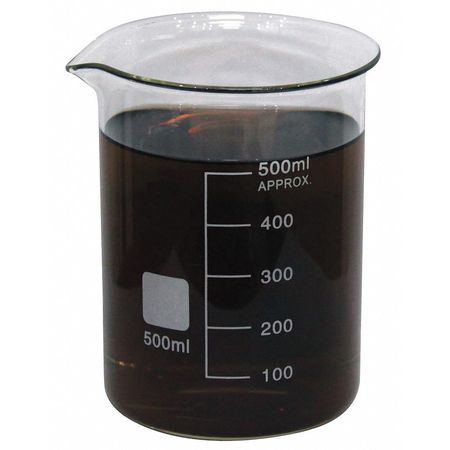 Beaker, Low Form, Glass, 500mL, PK6