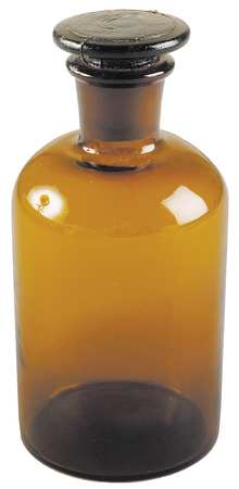 Reagent Bottle, Amber, Narrow, 250 mL, PK6