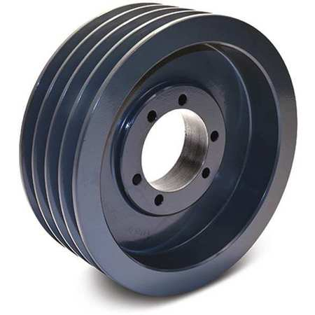 "1/2"" - 2-1/2"" Bushed Bore 4 Groove V-Belt Pulley 8.35"" OD"