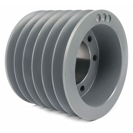 "1"" - 3-15/16"" Bushed Bore 6 Groove V-Belt Pulley 9.4"" OD"