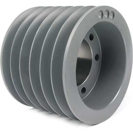 "1"" - 3-15/16"" Bushed Bore 6 Groove V-Belt Pulley 11.4"" OD"