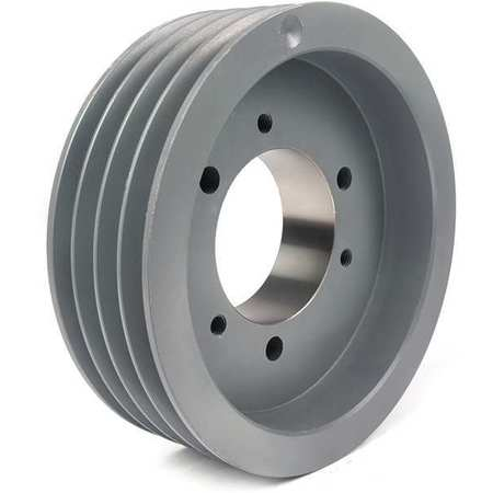 "1/2"" - 2-1/2"" Bushed Bore 4 Groove V-Belt Pulley 6.5"" OD"