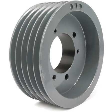 "7/8"" - 3-1/2"" Bushed Bore 5 Groove V-Belt Pulley 8"" OD"