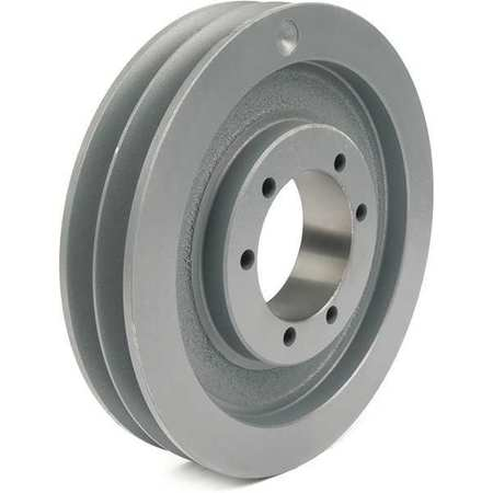 "1/2"" - 2-1/2"" Bushed Bore 2 Groove V-Belt Pulley 9"" OD"