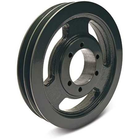 "1/2"" - 2-1/2"" Bushed Bore 2 Groove V-Belt Pulley 9.75"" OD"