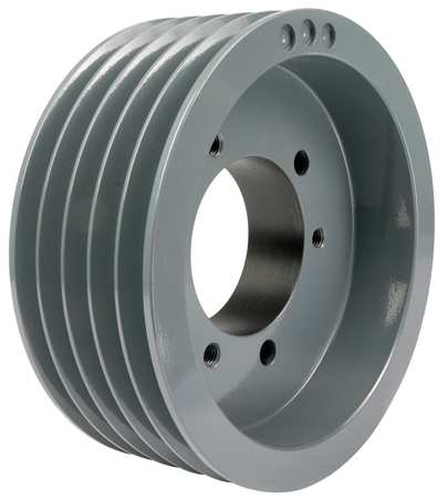 "7/8"" - 3-1/2"" Bushed Bore 5 Groove V-Belt Pulley 10.9"" OD"