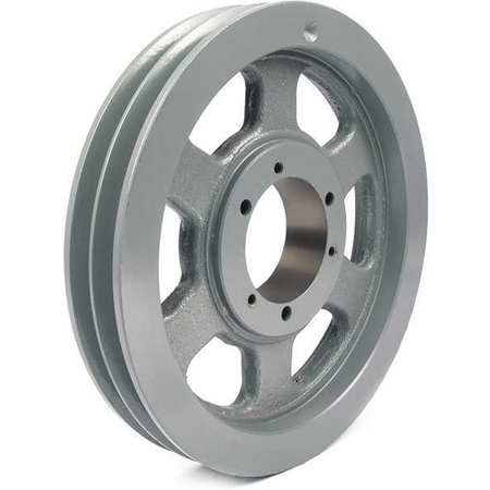 "1/2"" - 2-15/16"" Bushed Bore 2 Groove V-Belt Pulley 13.2"" OD"