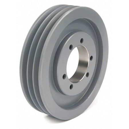 "1/2"" - 1-15/16"" Bushed Bore 3 Groove V-Belt Pulley 6.9"" OD"